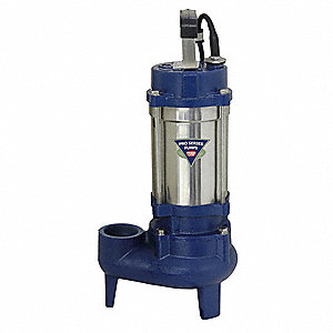 4/10 HP Manual Submersible Sewage Pump, 115 Voltage, 51 GPM of Water @ 15 Ft. of Head