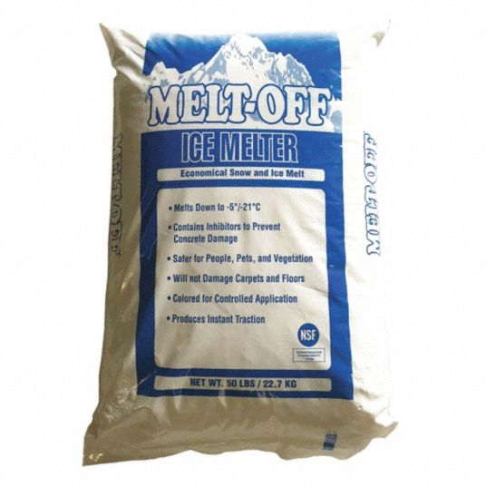 Light Blue Melt-Off Ice Melt, -5°F, 50 lb Bag (Pallet 49 Boxes) Granular