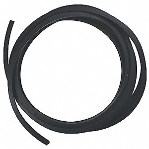 "Square Buna-N Rubber Cord Stock, 1/8"" Dia., 10 Ft., 70 Durometer, Black"
