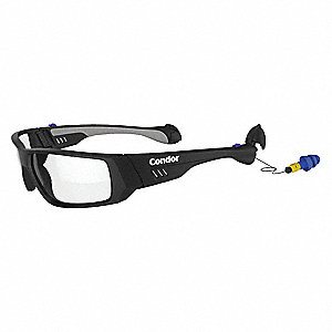 SonicGuard™ Anti-Fog, Scratch-Resistant Safety Glasses, Clear Lens Color