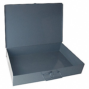 Steel Compartment Drawer, Compartments per Drawer: 1, Removable Dividers: No, Gray