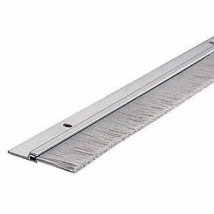 National Guard Brush Door Sweep Aluminum 3 Ft Length 7