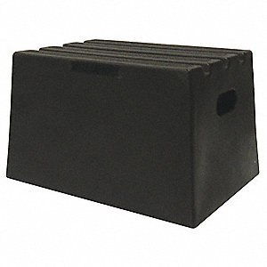 "Plastic Box Step, 11-3/4"" Overall Height, 500 lb. Load Capacity, Number of Steps: 1"