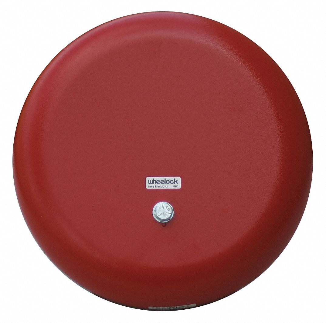 Bell, Continuous/Pulse Sound Pattern, 115V AC Voltage, Decibels: 85 dB, Color: Red