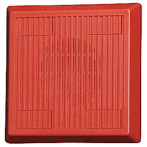 Multitone Horn,12/24VDC,Red,5-1/4 in. H