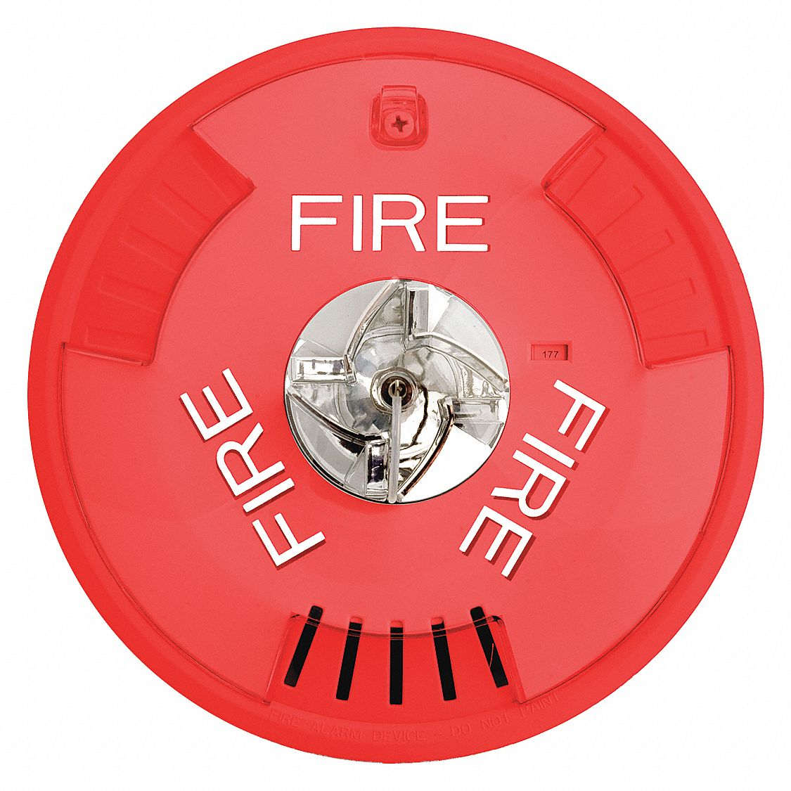 Horn Strobe, Continuous/Pulse Sound Pattern, 12 to 24V DC Voltage, Decibels: 99 dB, Color: Red
