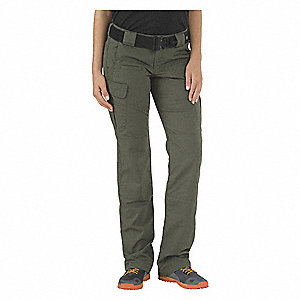 Womens Stryke Pant,TDU Green,R,18x36 in.