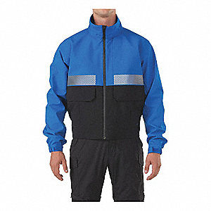 "Patrol Jacket, L Fits Chest Size 42"" to 44"", Royal Blue Color"