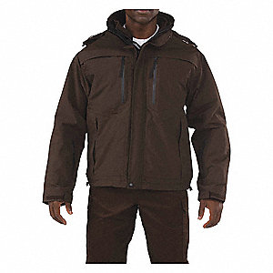 "Valiant Duty Jacket, 2XL Fits Chest Size 50"" to 52"", Brown Color"