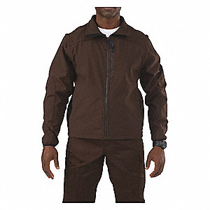 "Valiant Softshell Jacket, S Fits Chest Size 34"" to 36"", Brown Color"