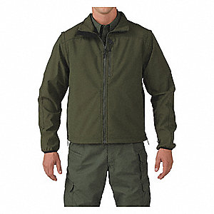 "Valiant Softshell Jacket, 2XL Fits Chest Size 50"" to 52"", Sheriff Green Color"