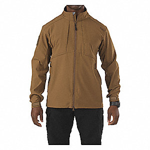 "Jacket, 2XL Fits Chest Size 50"" to 52"", Battle Brown Color"
