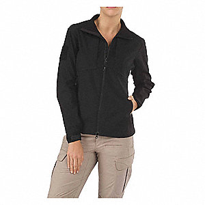 Jacket,M,Black,1.1 oz.,YKK Zipper