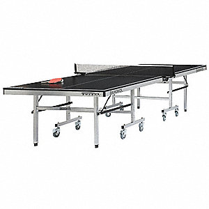 "Black Table Tennis Table, 107-29/32"" Length, 29-29/32"" Height, 60"" Width"