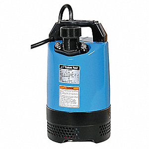 "1 HP Submersible Dewatering Pump, 115 Voltage, Discharge NPT: 2"", 50 ft. Cord Length"
