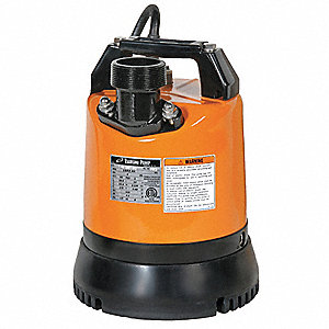 2/3 HP Construction Site/Residential Dewatering Pump, 115 Voltage, Discharge NPT: 2""