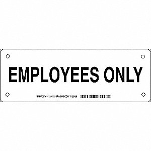 Facility Sign,Alum,3.5 x 10 in,Blk/Wht