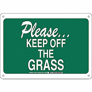 Facility Sign,Alum,10 x 14 in,Wht/Grn