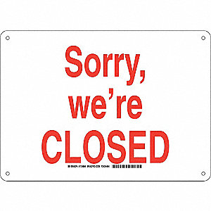 Facility Sign,Alum,10 x 14 in,Red/Wht