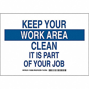 Facility Sign,Poly,7 x 10 in,Blue/Wht