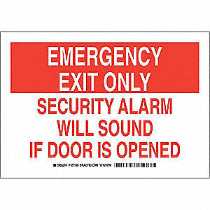 "Emergency Exit Sign,7"" x 10"",Polyester"