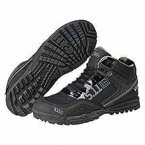 Military/Tactical Work boots, Toe Type: Plain, Black, Size: 9-1/2
