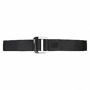 Buckle Belt,Black,38in.,1-1/2in.,Nylon
