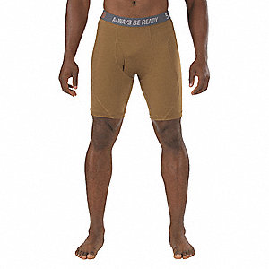 "Men's Boxer Briefs, Fits Waist Size 48"" to 50"", Battle Brown, 3XL"