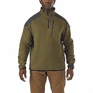 Tactical Zip Jacket,S,Field Green