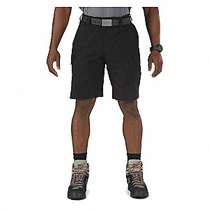 Tactical Shorts,38 in.,Black