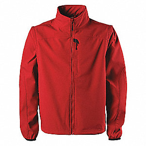 "Valiant Softshell Jacket, XL Fits Chest Size 46"" to 48"", Range Red Color"