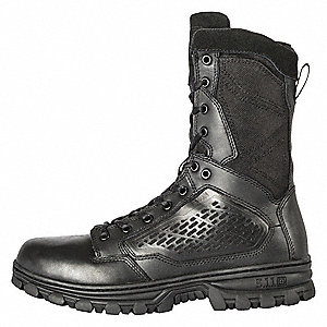 Military/Tactical Hiking Boots, Toe Type: Plain, Black, Size: 4