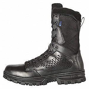Military/Tactical Hiking Boots, Toe Type: Plain, Black, Size: 9