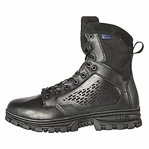 Military/Tactical Hiking Boots, Toe Type: Plain, Black, Size: 14