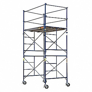 Scaffold Tower,5 ft.L,with Casters