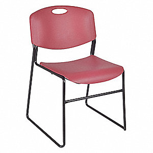 Stack Chair,400 lb.,Burgundy,No Arms,PK4