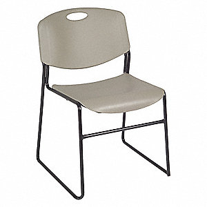 Stack Chair,400 lb.,Gray,No Arms,PK4