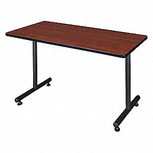 "Rectangle Training Table, Cherry, 48""W x 24"" Depth"