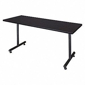 "Rectangle Training Table, Mocha Walnut, 60""W x 24"" Depth"