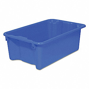 Stack and Nest Container,Blue,22 lb.