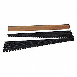 Paver Edging, Black Plastic, 60 ft., 1 EA