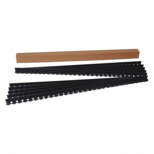 Edgepro Paver Edging Black Plastic 60 Ft 1 Ea 38hx71 1262 60c Grainger