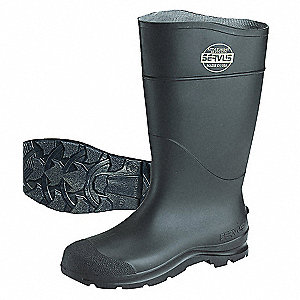 BOOTS, PVC, WP, 16IN, BLACK