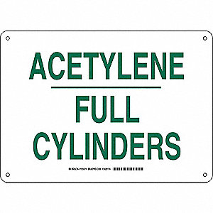 Chemical Sign,Alum,10 x14 in,Green/White
