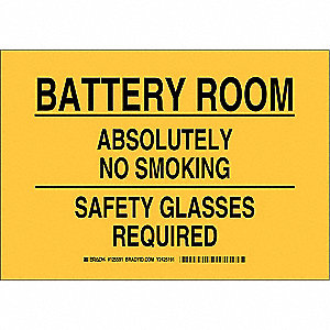 "No Smoking, No Header, Polyester, 7"" x 10"", Adhesive Surface, Not Retroreflective"