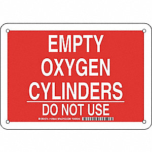 Chemical Sign,Alum,7 x 10 in,Wht/Red