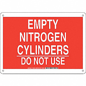 Chemical Sign,Plastic,10 x 14 in,Wht/Re