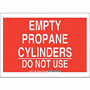 "Chemical, Gas or Hazardous Materials, No Header, Polyester, 10"" x 14"", Adhesive Surface"