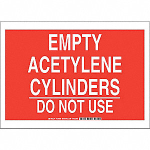 Chemical Sign,Polyester,10x14 in,Wht/Red