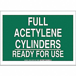 Chemical Sign,Polyester,10x14 in,Wht/Grn